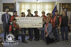 $6,145 Donation to AmVets Post 96 by Blue Lake Casino & Hotel