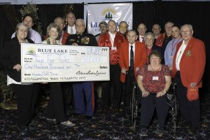 Toys for Tots $100,000 Donation from Blue Lake Casino & Hotel and the Blue Lake Rancheria